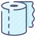 clean, towel, paper, hygiene, roll, bathroom, toilet icon