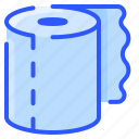 paper, roll, clean, bathroom, hygiene, towel, toilet icon