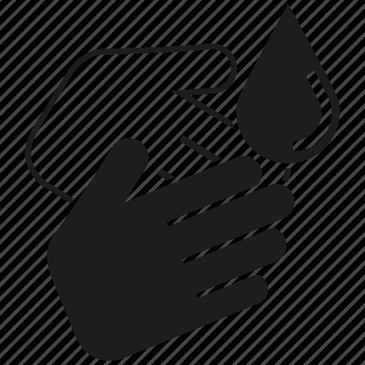 clean, drop, hand, hand wash, hygiene icon