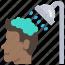 hair, hygiene, hygienic, shower, showering, wash
