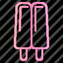 bar, ice cream, pop, popsicle, stick icon