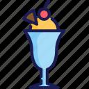 cherry, frozen, ice cream, scoop, summer, sweet, waffle icon