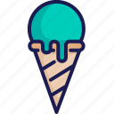 cone, dessert, ice cream, scoop, summer, sweet, waffle icon