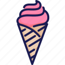 cone, dessert, frozen, ice cream, scoop, summer, sweet icon