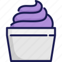 creme, cup, frozen, ice cream, scoop, summer, sweet icon