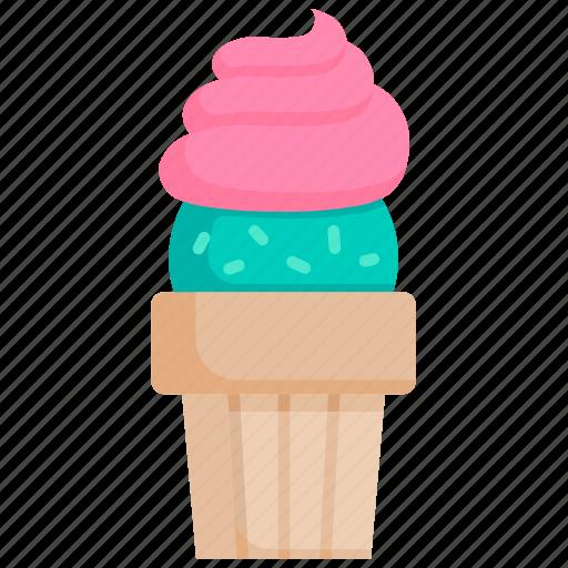 creme, dessert, frozen, ice cream, scoop, summer, sweet icon