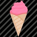 cone, dessert, frozen, ice cream, scoop, summer, sweet