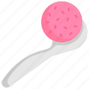 frozen, ice cream, scoop, strawberry, summer, sweet, waffle icon