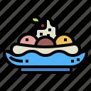 banana, dessert, ice cream, split, sweet