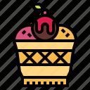 bakery, cup, dessert, ice cream, waffle