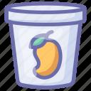 mango icecream, ice cream, icecream, mango flavor, dessert, food, ice icon
