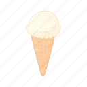 cartoon, cold, cone, cream, dessert, ice, sweet icon