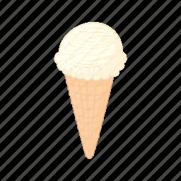 cartoon, cold, cone, cream, dessert, ice, sweet icon