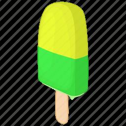 cartoon, cream, dessert, fruit, ice, stick, sweet icon
