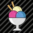 cream, dessert, food, fresh, fruit, ice, sweet icon