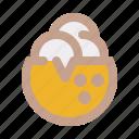 coconut, ice cream, summer, tropical