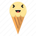 cream, emoticon, funny, ice, icecream
