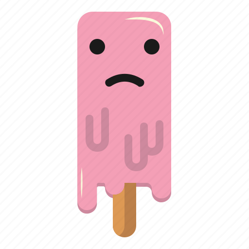 Cream, emoticon, ice, icecream, sad icon - Download on Iconfinder