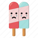 cream, crying, emoticon, ice, icecream, sad
