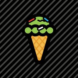 cone, cream, funfetti, ice icon