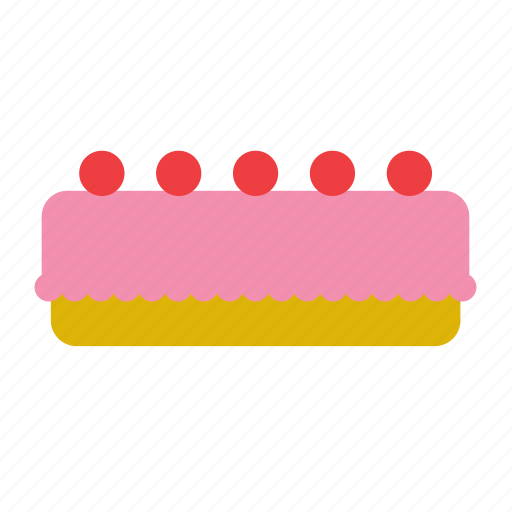 bakery, cake, dessert, food, pie, strawberry icon