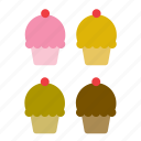 bakery, cake, cupcake, dessert, food, pie icon