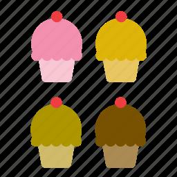 bakery, cake, cupcake, dessert, food, pie icon