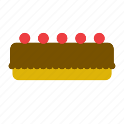 bakery, cake, chocolate, dessert, food, pie icon