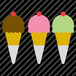 cone, cornet, food, ice cream, ice-cream, scoop, shop icon
