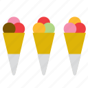 cone, cornet, dessert, food, ice cream, ice-cream, scoop icon