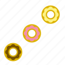 dessert, donut, doughnut, food, pastry, ring-shaped icon