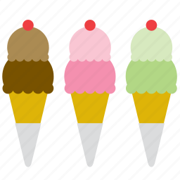 cone, cornet, food, ice cream, ice-cream, scoop, shop icon