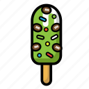 cold, cream, delicious, ice, stick icon