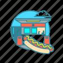hotdog, iceland icon
