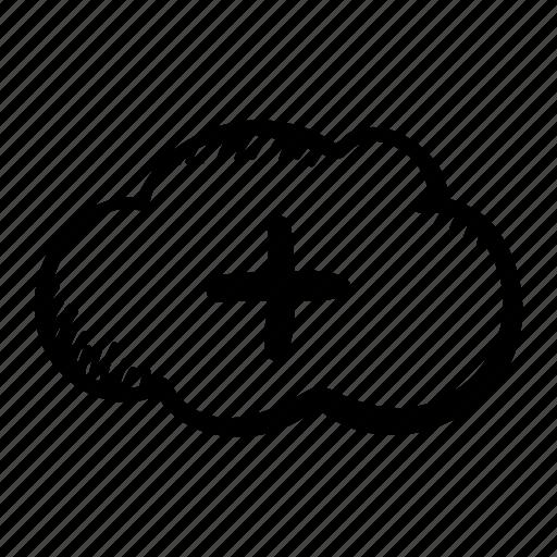 add, cloud, cloud plus, cloud storage, icloud, plus, storage icon