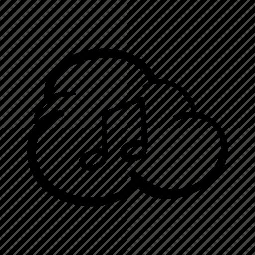 cloud, cloud storage, download music, icloud, icloud music, music, storage icon