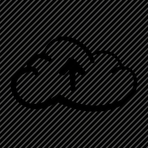 arrow, arrow up, cloud, icloud, icloud upload, upload, uploading icon
