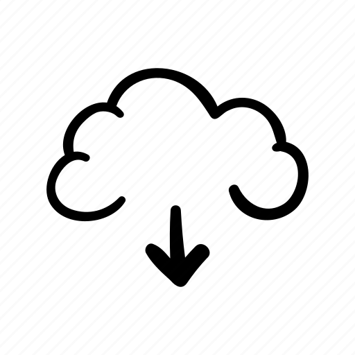arrow, cloud, cloud storage, download, download cloud, icloud, storage icon