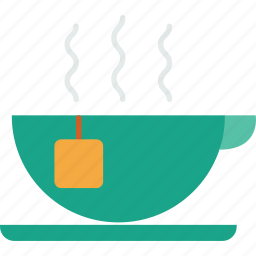 beverage, breakfast, cup, drink, hot, tea icon