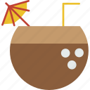 beverage, cocktail, coconut, drink, summer, tropical icon