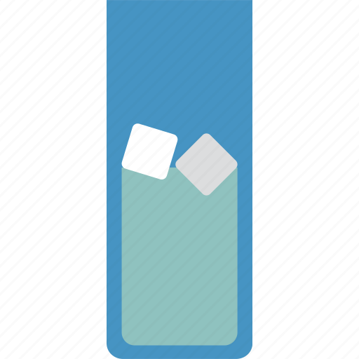 beverage, cool, drink, glass, ice, water icon