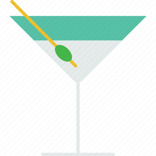 beverage, drink, glass, liquor, martini, olive icon