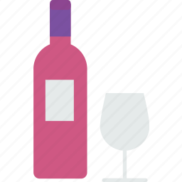 beverage, bottle, drink, glass, liquor, vine, wine icon