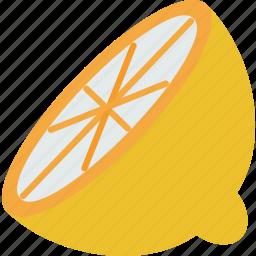 food, juicy, lemon, sliced, vegetable icon