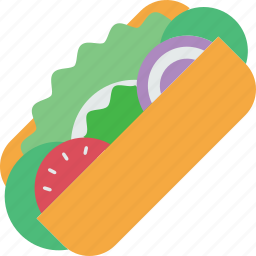 fastfood, food, healthy, meal, restaurant, sandwich, vegetable icon