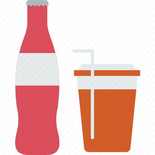 carbonated, coke, cola, cold drink, drink, fastfood, food icon