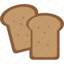 baked, bread, breakfast, eating, food, kitchen, toast icon