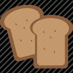 baked, bread, breakfast, eating, food, kitchen, toast icon