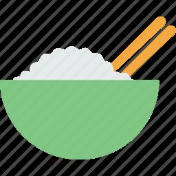 dinner, food, rice icon