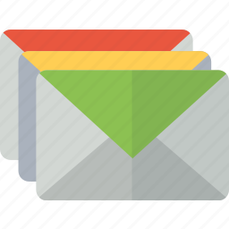 emails, envelope, inbox, letters, mail, packet icon